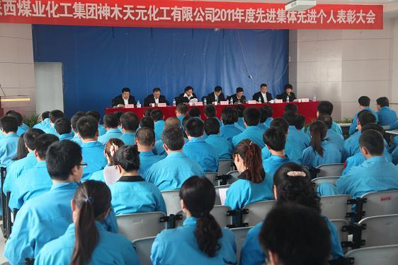 天元化工2011年度先进集体 先进个人表彰大会